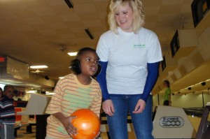 Students at the Building Blocks Center for Autism go bowling
